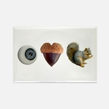 I Heart Squirrels Rectangle Magnet