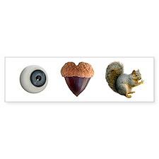 I Heart Squirrels Car Sticker