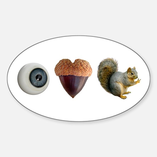 I Heart Squirrels Sticker (Oval)