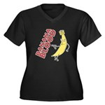 Banana Blood Women's Plus Size V-Neck Dark T-Shirt
