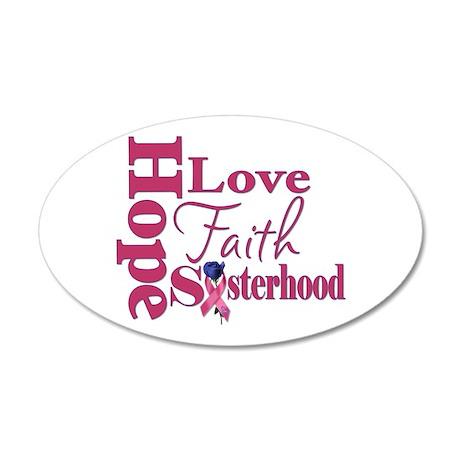 Hope - Love - Faith 38.5 x 24.5 Oval Wall Peel