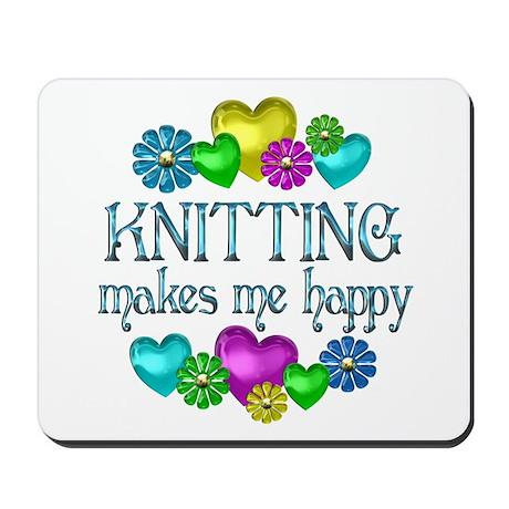 Knitting Happiness Mousepad