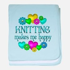 Knitting Happiness baby blanket