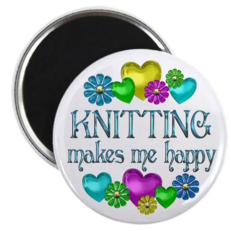 Knitting Happiness Magnet