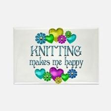 Knitting Happiness Rectangle Magnet (100 pack)