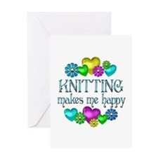 Knitting Happiness Greeting Card