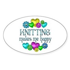 Knitting Happiness Decal