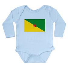 French Guianese Flag Long Sleeve Infant Bodysuit