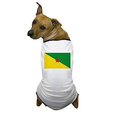 French Guianese Flag Dog T-Shirt