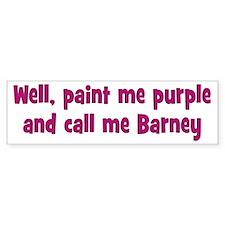 Call me Barney Car Sticker