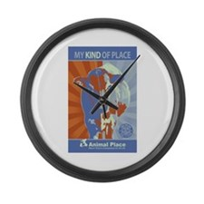 Obey the Cow Large Wall Clock