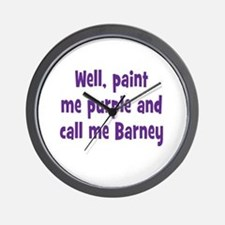 Call me Barney Wall Clock