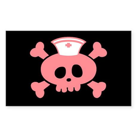 Nurse Lolly Sticker (Rectangle)