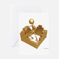 BuildingWalls01 Greeting Cards (Pk of 10)