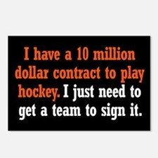 Hockey Contract Postcards (Package of 8)