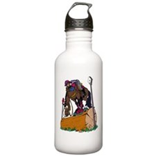Horse on Log Jump Water Bottle