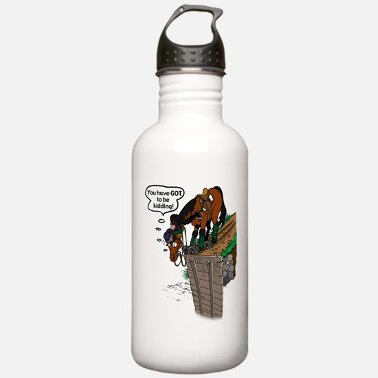 Horse at Drop Jump Water Bottle