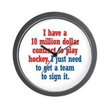 Hockey Contract Wall Clock