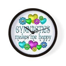Gymnastics Happiness Wall Clock