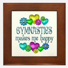 Gymnastics Happiness Framed Tile