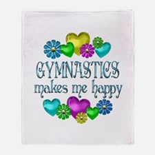 Gymnastics Happiness Throw Blanket
