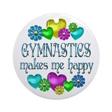 Gymnastics Happiness Ornament (Round)