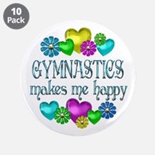 "Gymnastics Happiness 3.5"" Button (10 pack)"