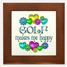 Golf Happiness Framed Tile