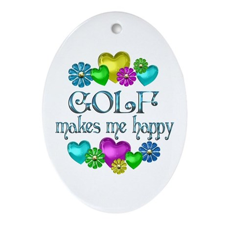 Golf Happiness Ornament (Oval)