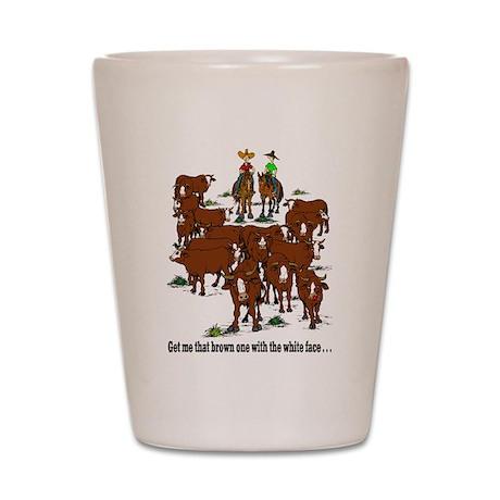 Cattle & Horses Shot Glass
