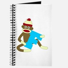 Sock Monkey Monogram Boy F Journal