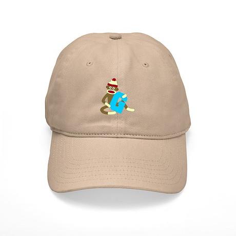 Sock Monkey Monogram Boy G Cap