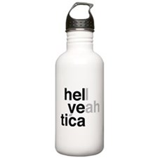 helvetica hell yeah Sports Water Bottle