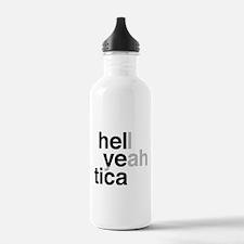 helvetica hell yeah Water Bottle