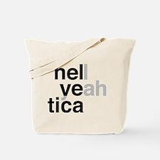 helvetica hell yeah Tote Bag