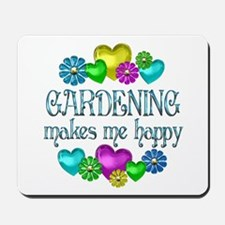 Gardening Happiness Mousepad