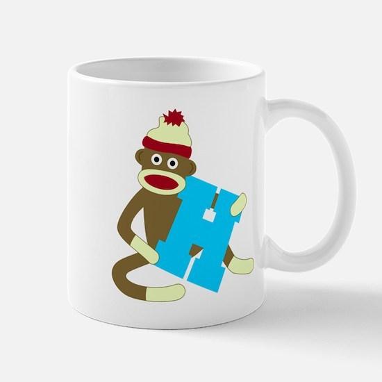 Sock Monkey Monogram Boy H Coffee Mug