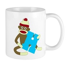 Sock Monkey Monogram Boy H Coffee Mug