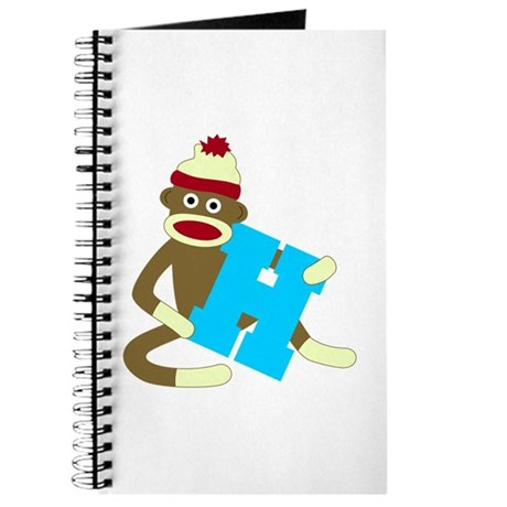 Sock Monkey Monogram Boy H Journal