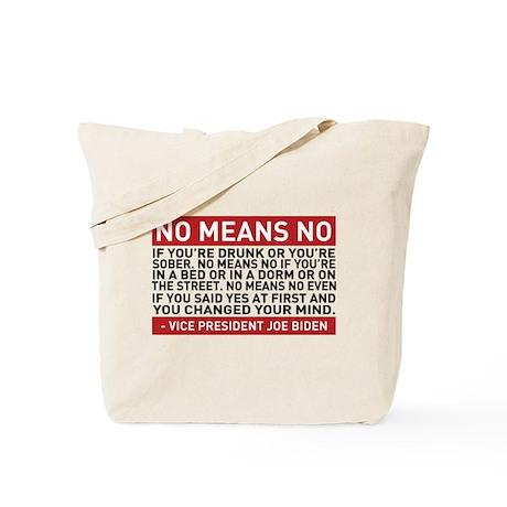 No Means No Tote Bag