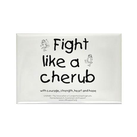 Fight Like A Cherub Rectangle Magnet (100 pack)