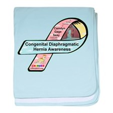 Camdyn Gage Seay CDH Awareness Ribbon baby blanket