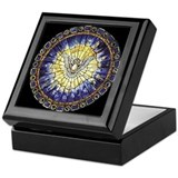 Episcopal church Square Keepsake Boxes