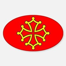 Occitan Flag Sticker (Oval)