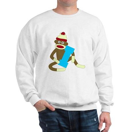 Sock Monkey Monogram Boy I Sweatshirt