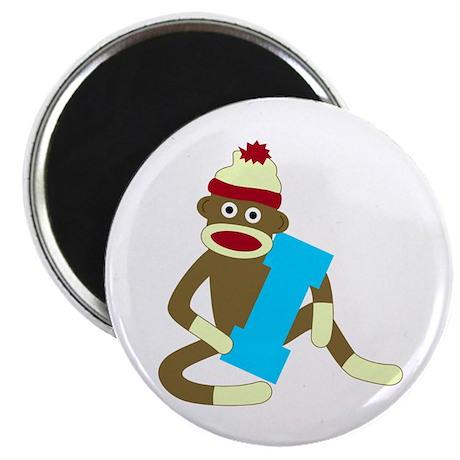 Sock Monkey Monogram Boy I Magnet