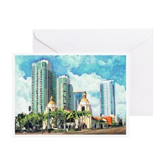 San Diego Train Station Greeting Cards (Pk of 20)