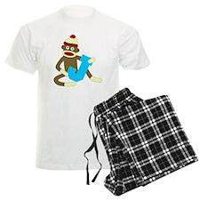 Sock Monkey Monogram Boy J Pajamas