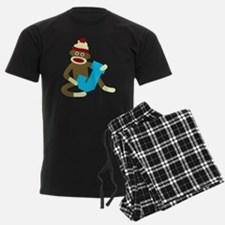 Sock Monkey Monogram Boy J Pajamas