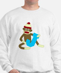 Sock Monkey Monogram Boy J Sweatshirt